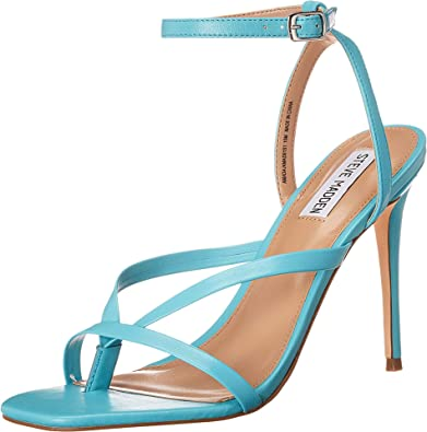 Teal Leather Amada Heeled Sandal-Steve Madden