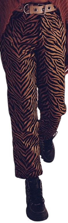 Tiger Print Rumba Velvet Pant-Tach Clothing