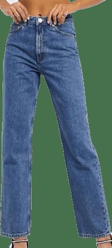 Vintage Mid Wash Blue Florence Straight-Let Jeans