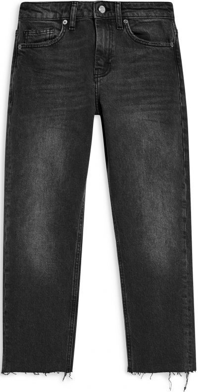 Washed Black Straight Leg Jeans-Topshop