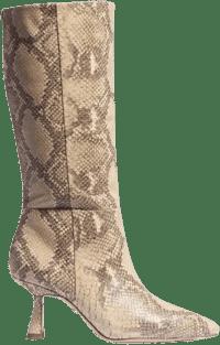 Wheat Multi Snake Samira Tall Kitten Heel Boot-Sam Edelman
