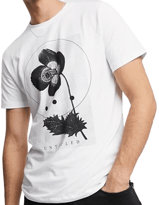 White Abstract Graphic Print T-Shirt