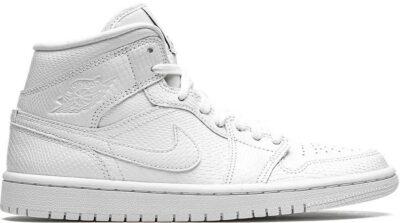 White Air Jordan 1 Mid Sneakers-Jordan