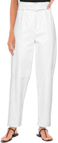 White Casual Pants-Vicolo