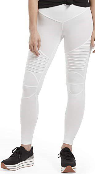 White Cotton Leggings-HUE