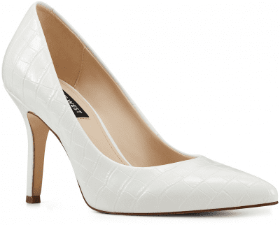 White Flax Pointed-Toe Pumps