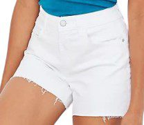 White High-Waisted Cut-Off Jean Shorts-Old Navy