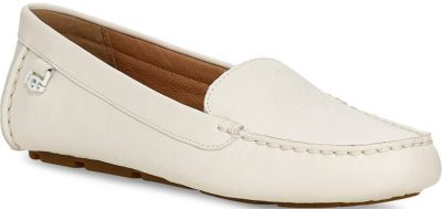 White Leather Flores Driving Loafer-UGG