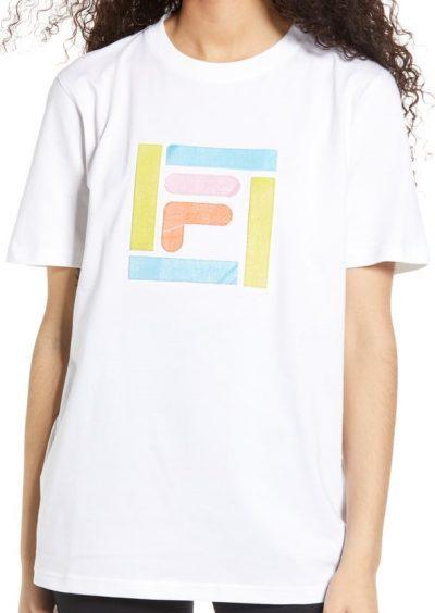 White Monique Appliqué T-Shirt-Fila