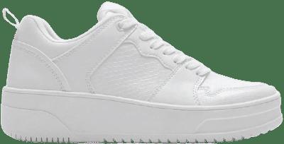 White Platform Sneakers-Zara