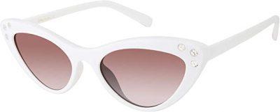 White Rhinestone Cat-Eye Sunglasses-Circus by Sam Edelman