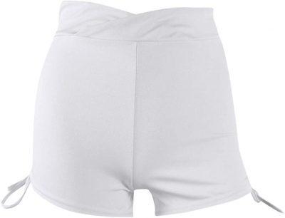 White Running Strap Shorts