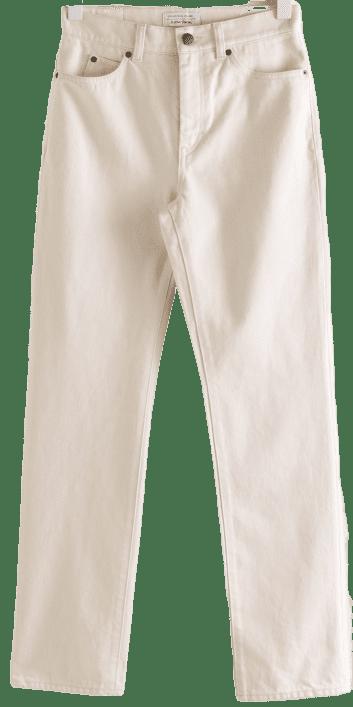 White Slim High-Rise Jeans