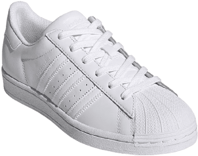 White Superstar Lace-Up Sneakers