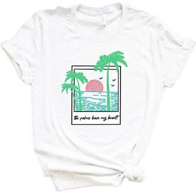 White The Palms Have My Heart Crewneck Tee-Simply Sage Market