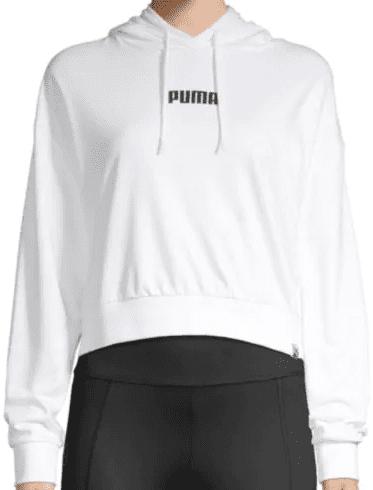Wild Pack Logo Crop Hoodie-Puma