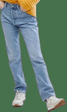 Wow Blue Vintage Look Straight Leg Jean-Weekday