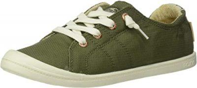 Army Green Bayshore Slip On Sneaker Shoe-Roxy
