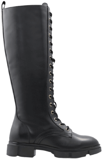 Black Adreliclya Combat Boots-Aldo