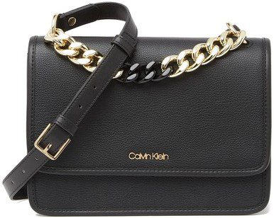 Black Ariela Chain Strap Crossbody Bag-Calvin Klein