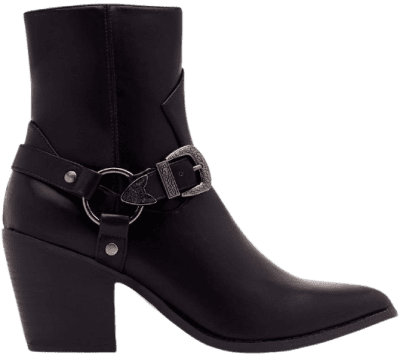 Black Baby You're The West Faux Leather Boots-Nasty Gal
