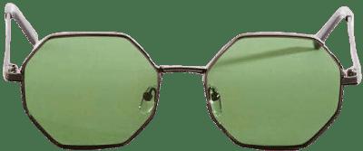 Black Baldwin Octagonal Sunglasses-Altar'd State