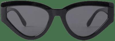 Black Big Drop Shape Sunglasses-NA-KD