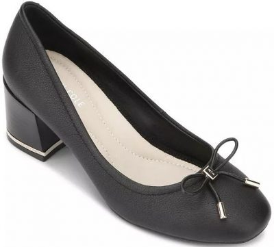Black Bow Block Heel Pumps-Kenneth Cole