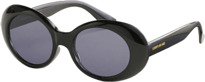 Black Cantone Oval Sunglasses