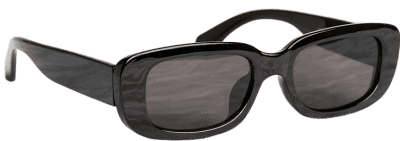 Black Chic Rectangle Sunglasses