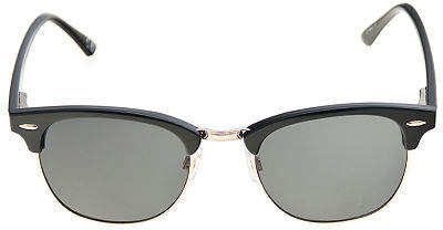 Black Clubmaster Polarized Sunglasses