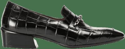 Black Crocodile And Chain Moccasin