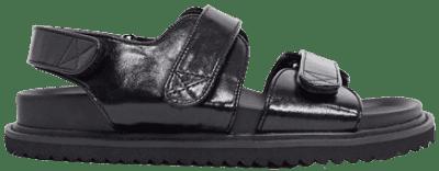 Black Faster Sporty Sandals