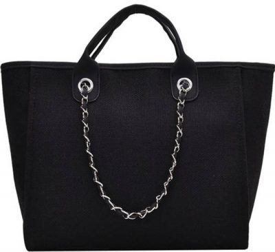 Black Fatima Canvas Tote Bag