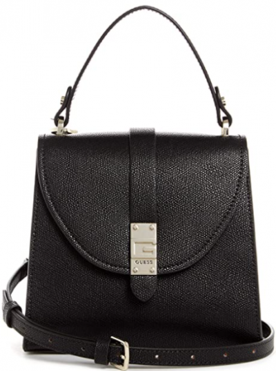 Black Flap Crossbody Bag