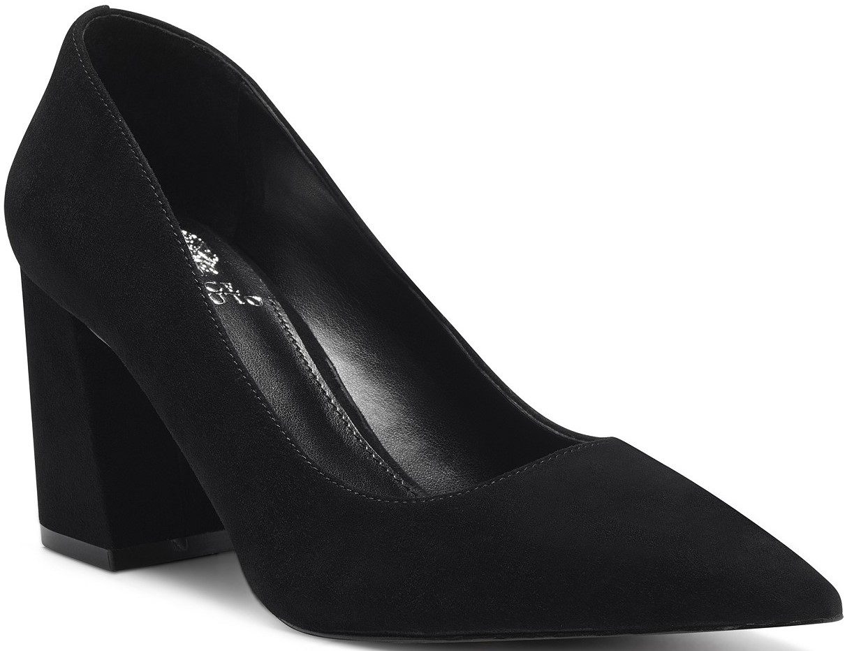 Black Frittam Pointed-Toe Block-Heel Pumps-Vince Camuto