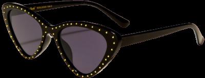 Black Giselle Studded Cat Eye Sunglasses