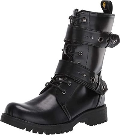 Black Harwell Combat Boot-Volatile