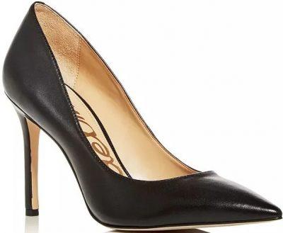 Black Hazel Pointed Toe High-Heel Pumps-Sam Edelman