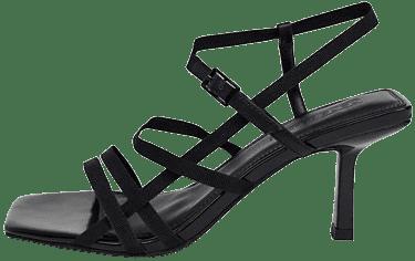 Black Heartbreak Strappy Heeled Sandals-Asos Design