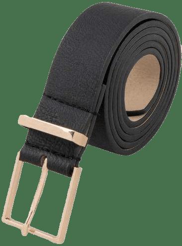 Black Joy Square Buckle Belt-Francesca's