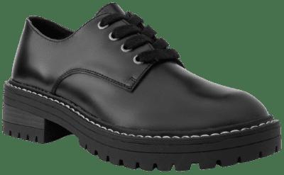 Black Kaelie Lace-Up Oxford Shoes