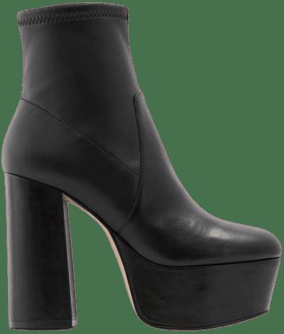 Black Karnak Block Heel Platform Ankle Boot-Aldo