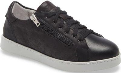 Black Leather Elisa Sneaker-David Tate