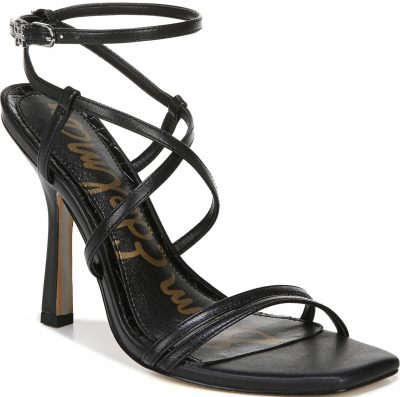 Black Leather Leeanne Strappy Sandals