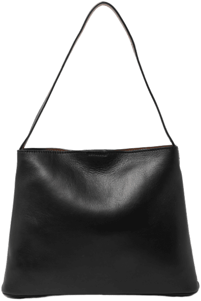 Black Leather Tote Bag-Marks and Spencer