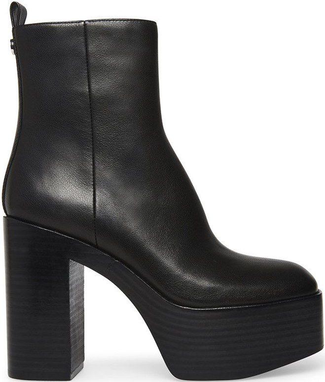 Black Marsh Leather Boots-Steve Madden