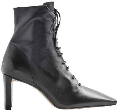 Black Matilda Lace Up Boots