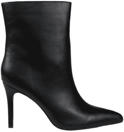 Black Mid Heel Ankle Boots-Missguided