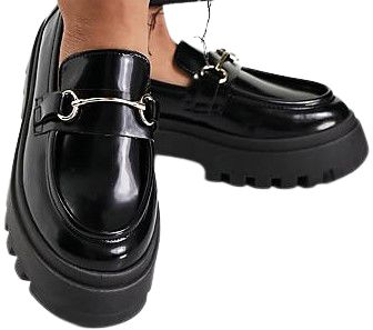 Black Miller Chunky Loafers-Asos Design